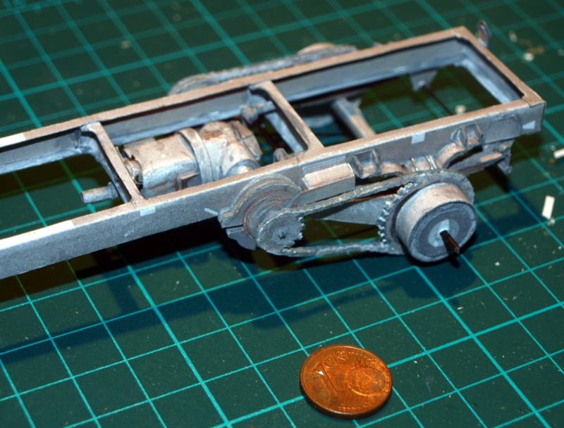 """Fertig Tank Truck """"Bulldog"""" von Modelik verkleinert auf 1:33 gebaut von Kubi P1016632"""