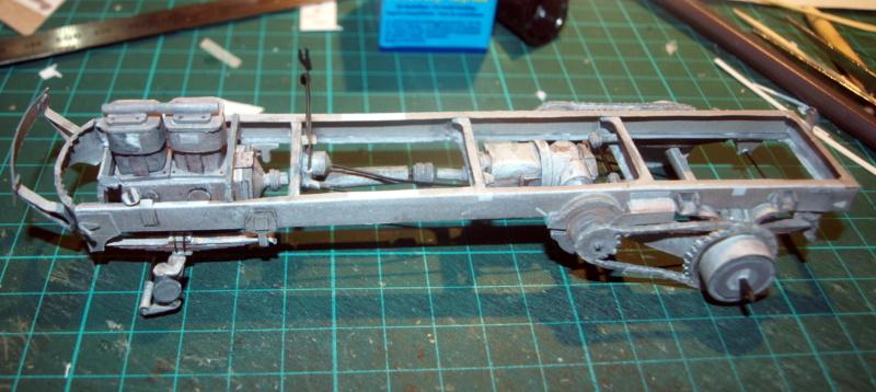 """Fertig Tank Truck """"Bulldog"""" von Modelik verkleinert auf 1:33 gebaut von Kubi P1016641"""