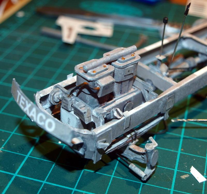 """Fertig Tank Truck """"Bulldog"""" von Modelik verkleinert auf 1:33 gebaut von Kubi P1016643"""