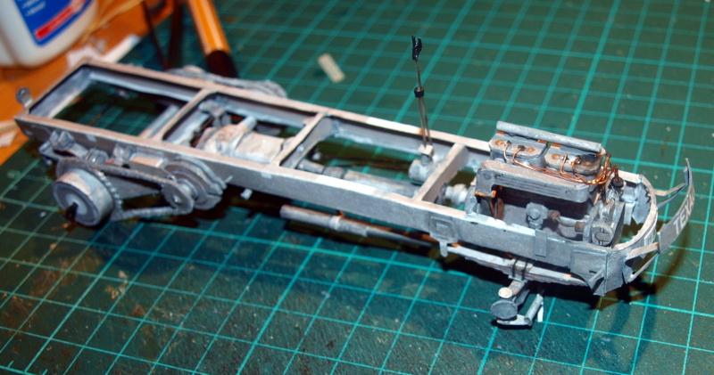 """Fertig Tank Truck """"Bulldog"""" von Modelik verkleinert auf 1:33 gebaut von Kubi P1016648"""