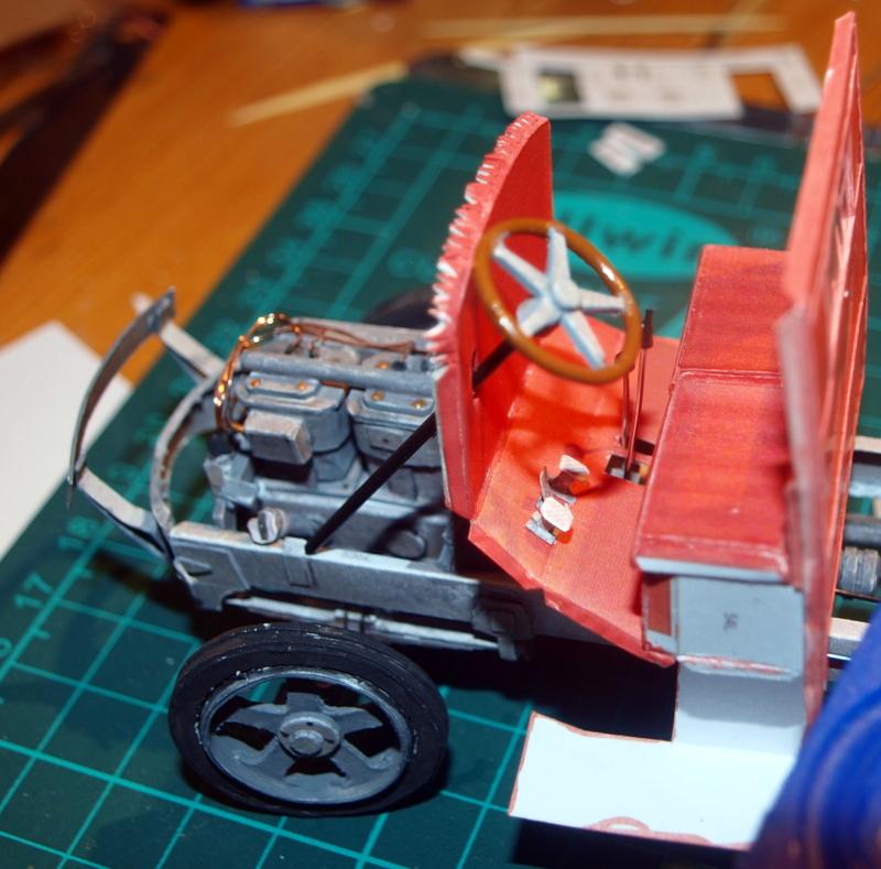 """Fertig Tank Truck """"Bulldog"""" von Modelik verkleinert auf 1:33 gebaut von Kubi P1016717"""