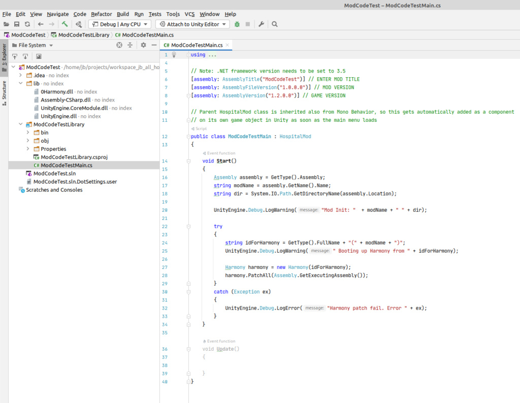 Modding tutorial - setting up code mods Modcod10