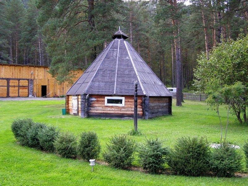 АИЛ - традиционное алтайское жилье Wvmrb-10