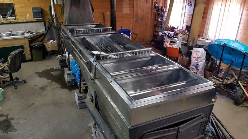 Évaporateur 4x14 au bois et huile et séparateur Bouill10
