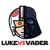 """CAMISETAS DE """"LUKE VS VADER""""  5b763d10"""