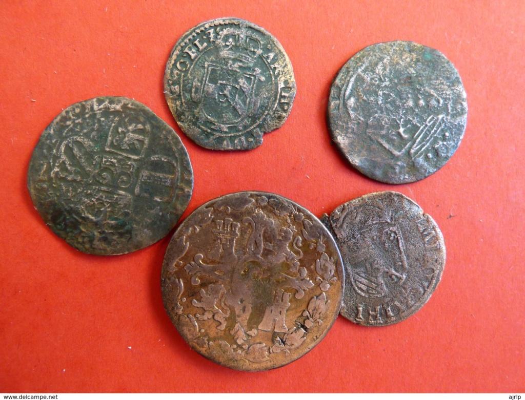 1 Liard a nombre de Fernando de Aspremont-Lynden, 1636-1665, Lieja.  Lote_210
