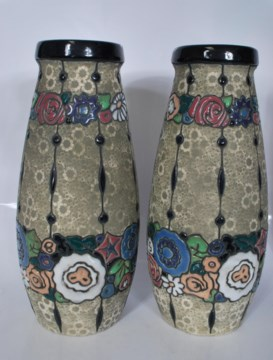 Czechoslovakia Amphora pottery Pair of vases Amphor10