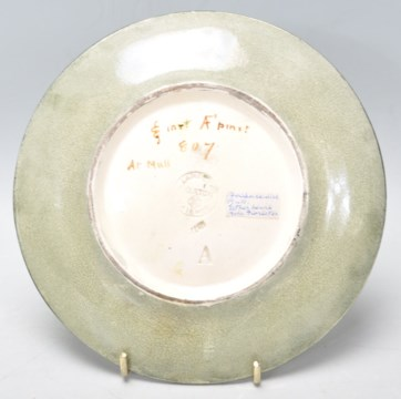 Doulton Lambeth 19th Century Plate  Plate_11