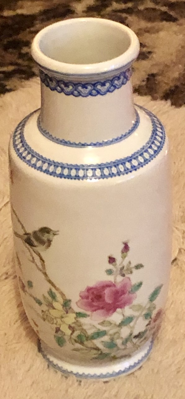 Early 20th Century Chinese  Republic Hand painted Famille Rose Vase   V112