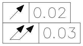幾何公差偏擺箭頭如何改成實心? Arrorf11
