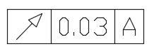 幾何公差偏擺箭頭如何改成實心? Geotol10