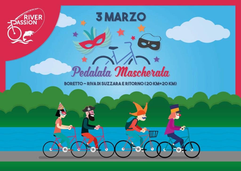 Biciclettata Mascherata sulle rive del fiume Po - 03 Marzo 2019 50971810