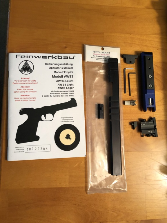 ###SOLD### WTS Feinwerkbau AW93 + extras, LNIB Condition  2019-016