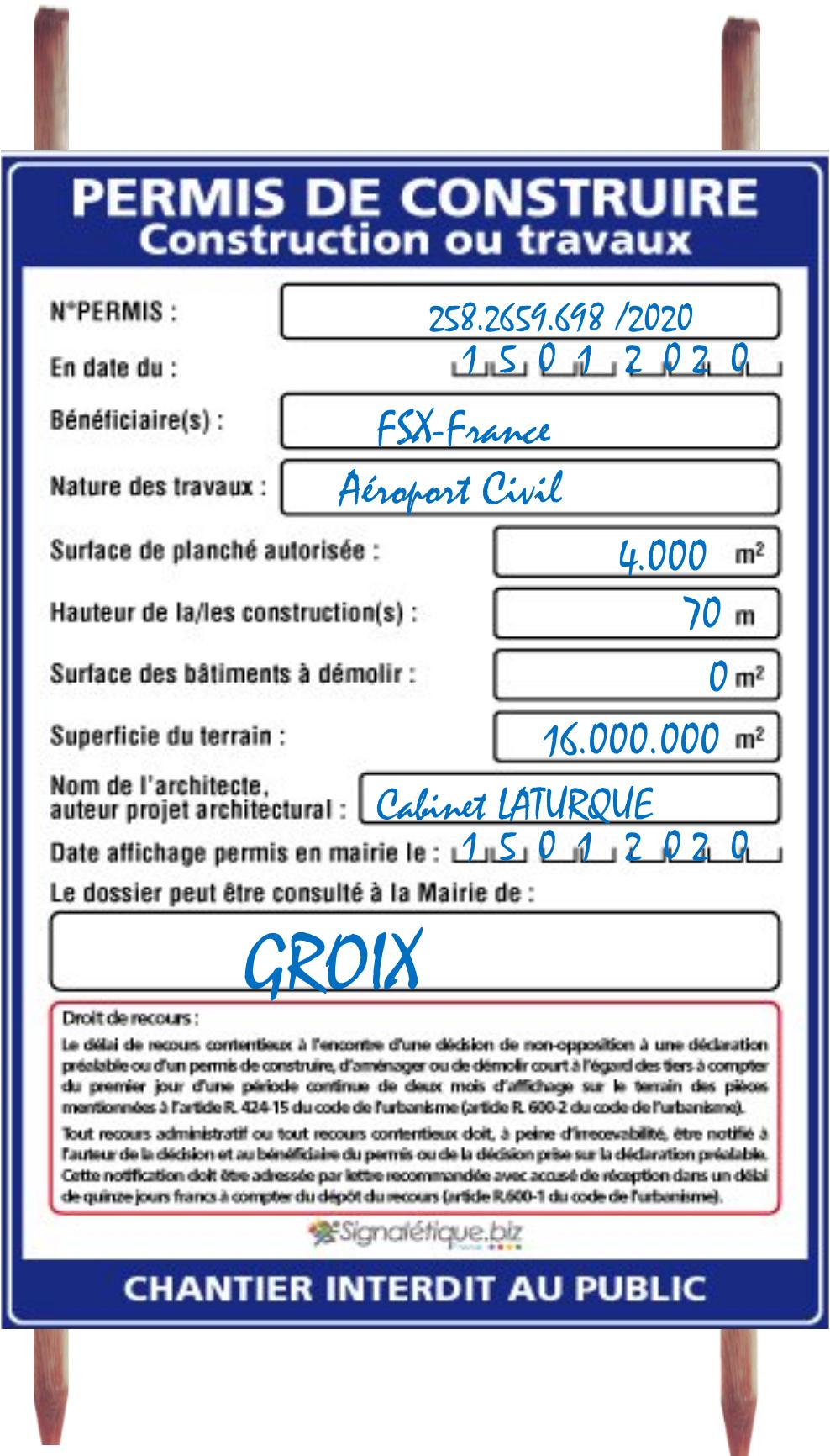 Projet Aéroport de FSX-France Permis10