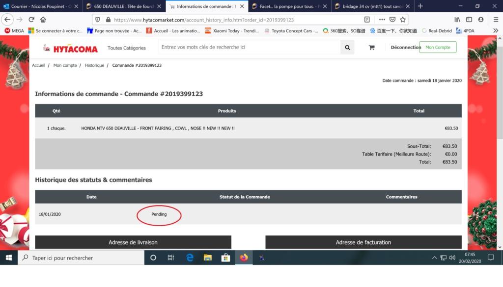 650 DEAUVILLE : Tête de fourche neuve à 83,50€ Pendin10