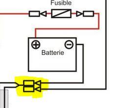 Branchement batterie - 125 1979 Batter14