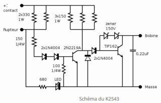 Kit allumage électronique Velleman K2543 sur DTMX modèle 79 Shema_11