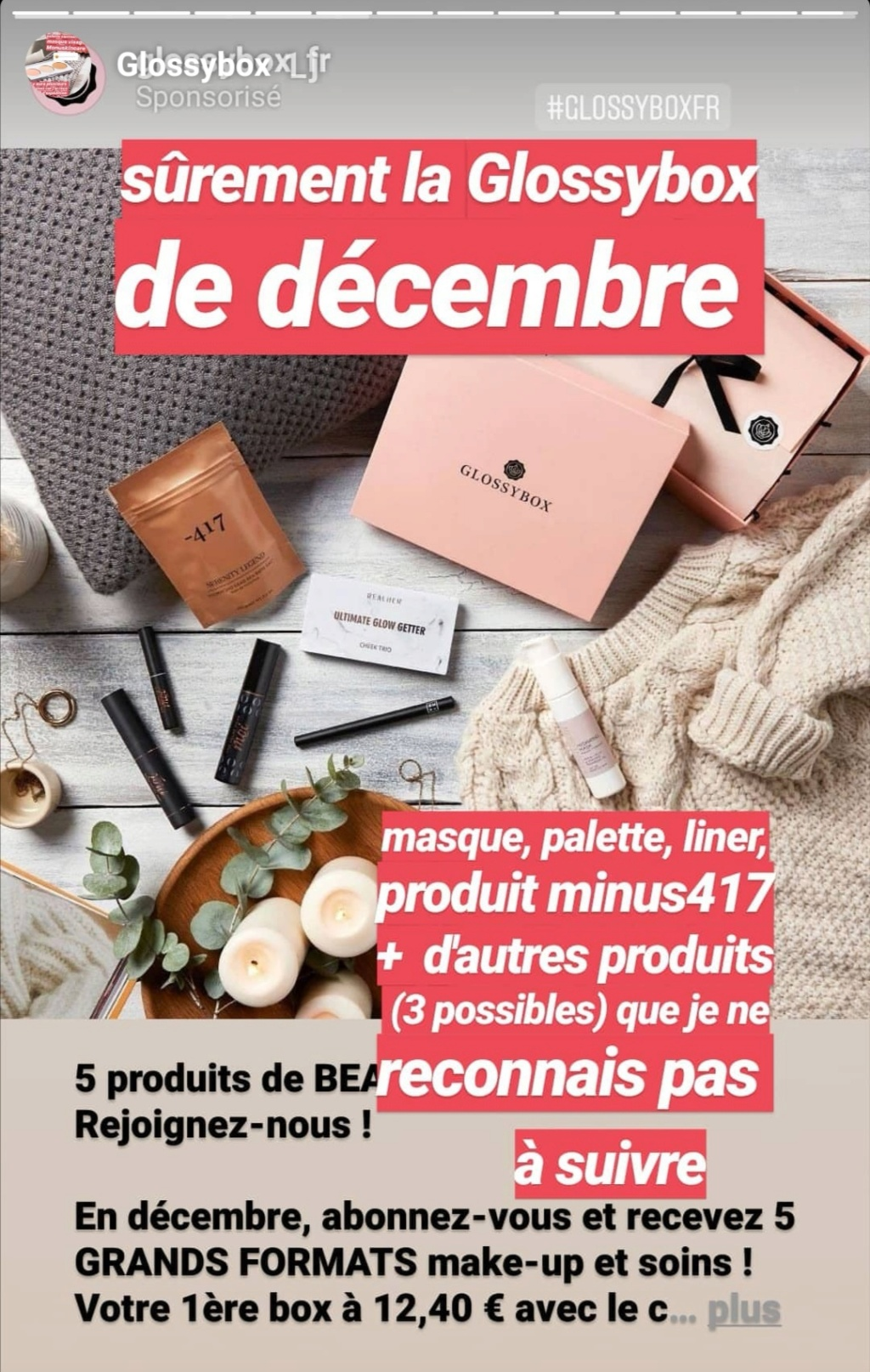 [Décembre 2019] Glossybox   Screen11