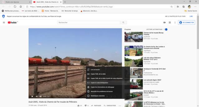 Comment poster une vidéo de Youtube sur le site  Select11