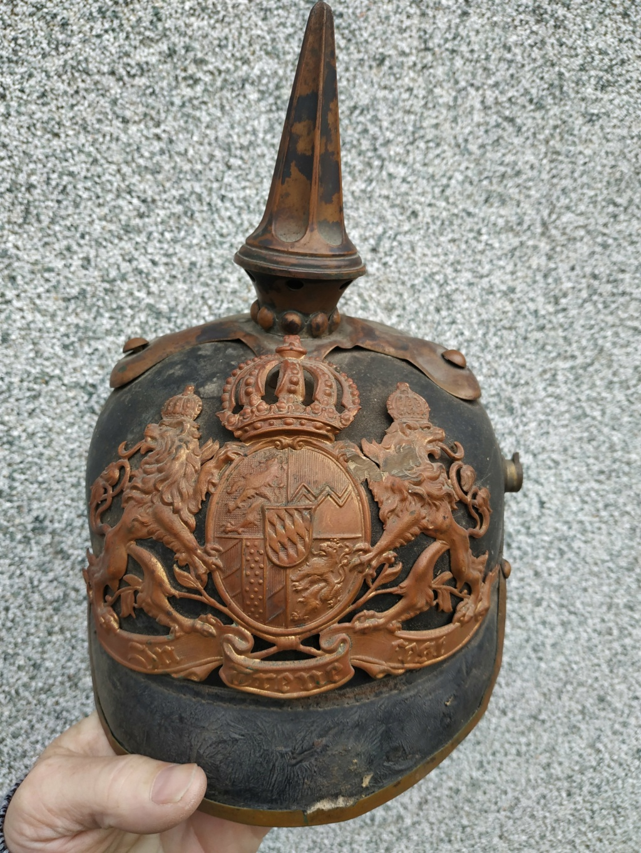 casque a pointe troupe bavaroise 1er régiment artillerie Casque24