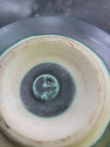 Help to identify maker - Turquoise stoneware bowl -  20211016