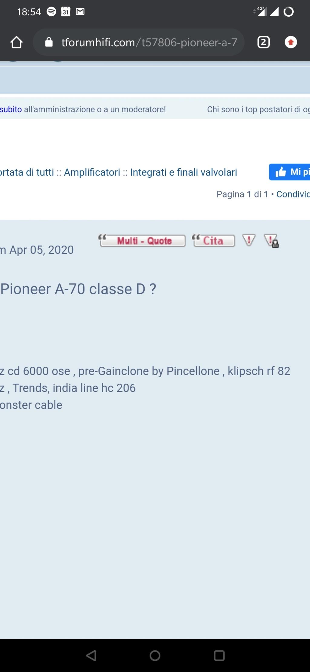 Pioneer A-70 Screen11
