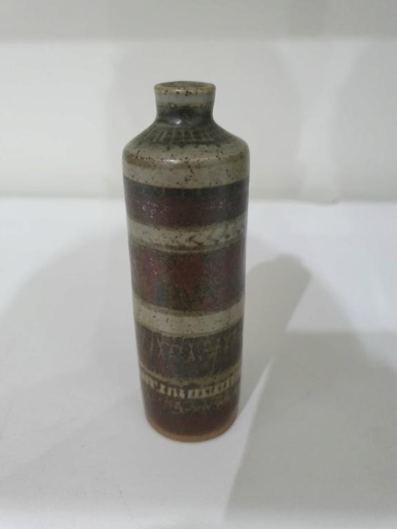 Nice small vases including bottle vase, signed - European?  20200812