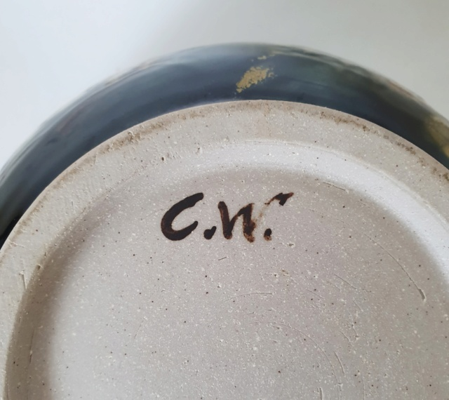 Studio Pottery Bowl ID C.W. Mark 20210712