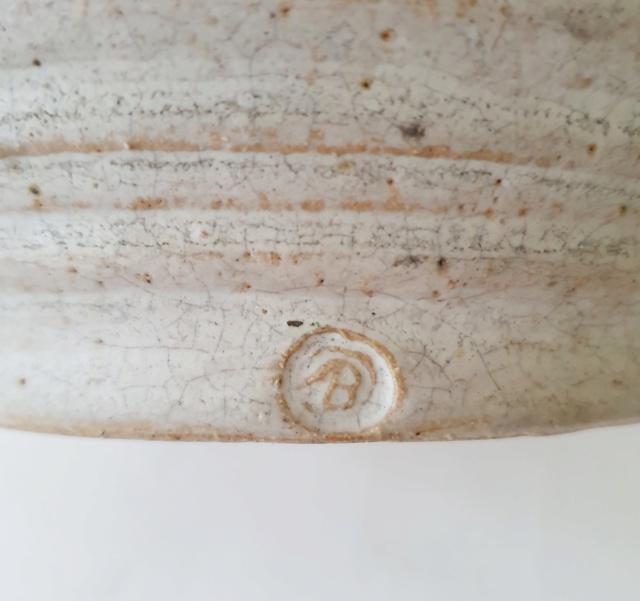 Studio pottery vase ID. AB mark? 20210810