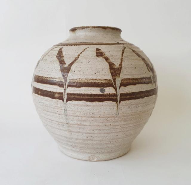 Studio pottery vase ID. AB mark? 20210811