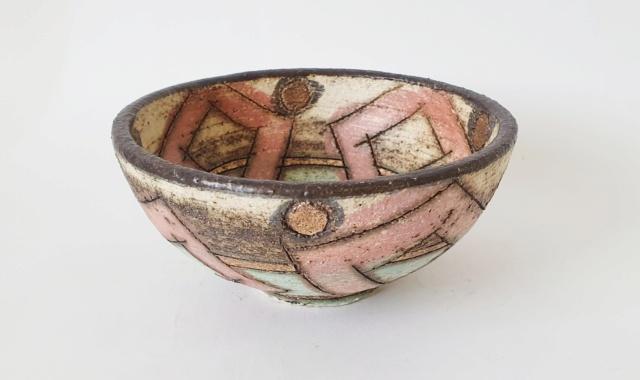 Studio pottery bowl ID, signed Mint?  20210912