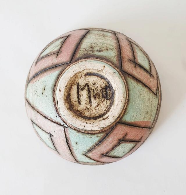 Studio pottery bowl ID, signed Mint?  20210913