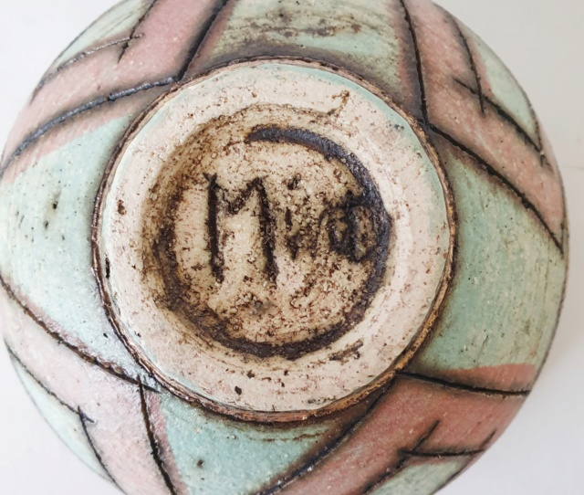 Studio pottery bowl ID, signed Mint?  20210914