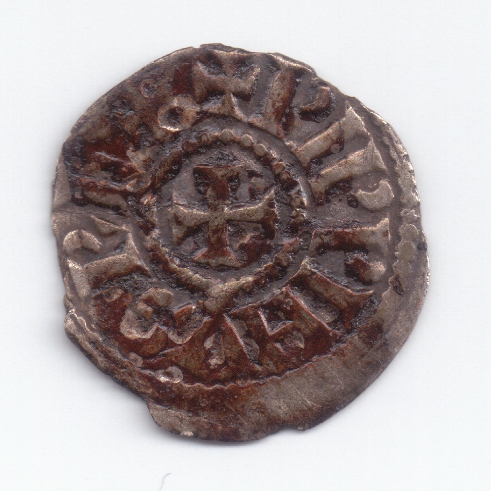Obole de Pépin II d'Aquitaine à nettoyer Avers10