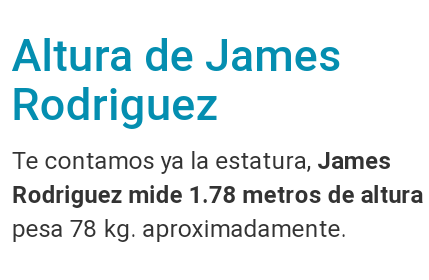 ¿Cuánto mide James Rodríguez? - Altura - Real height Screen12