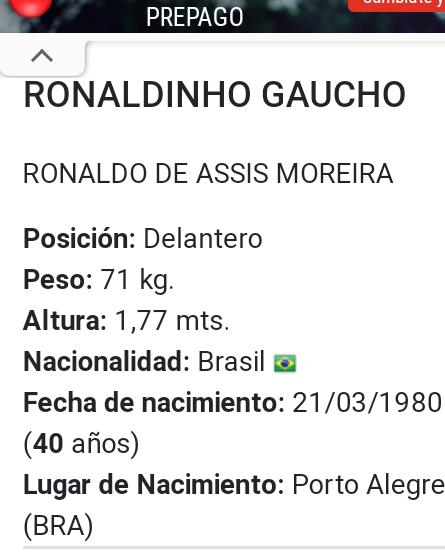 ¿Cuánto mide Ronaldinho? - Altura - Real height Screen15