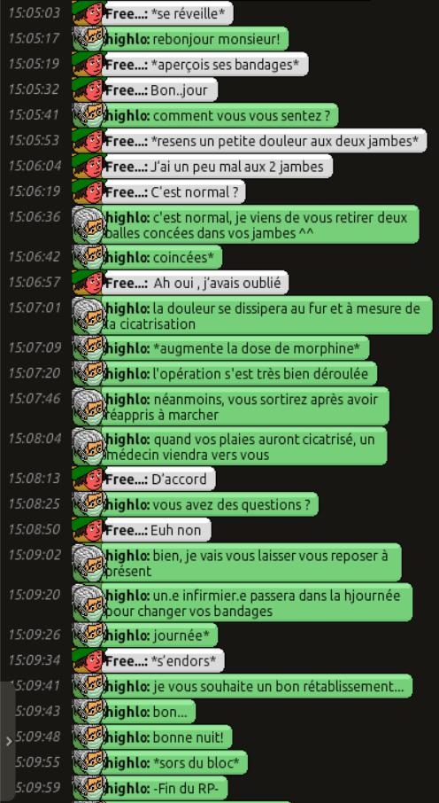 [C.H.U] Rapports d'actions RP de Highlo 413