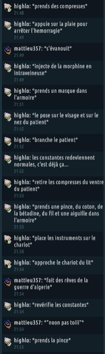 [C.H.U] Rapports d'actions RP de Highlo Captur77