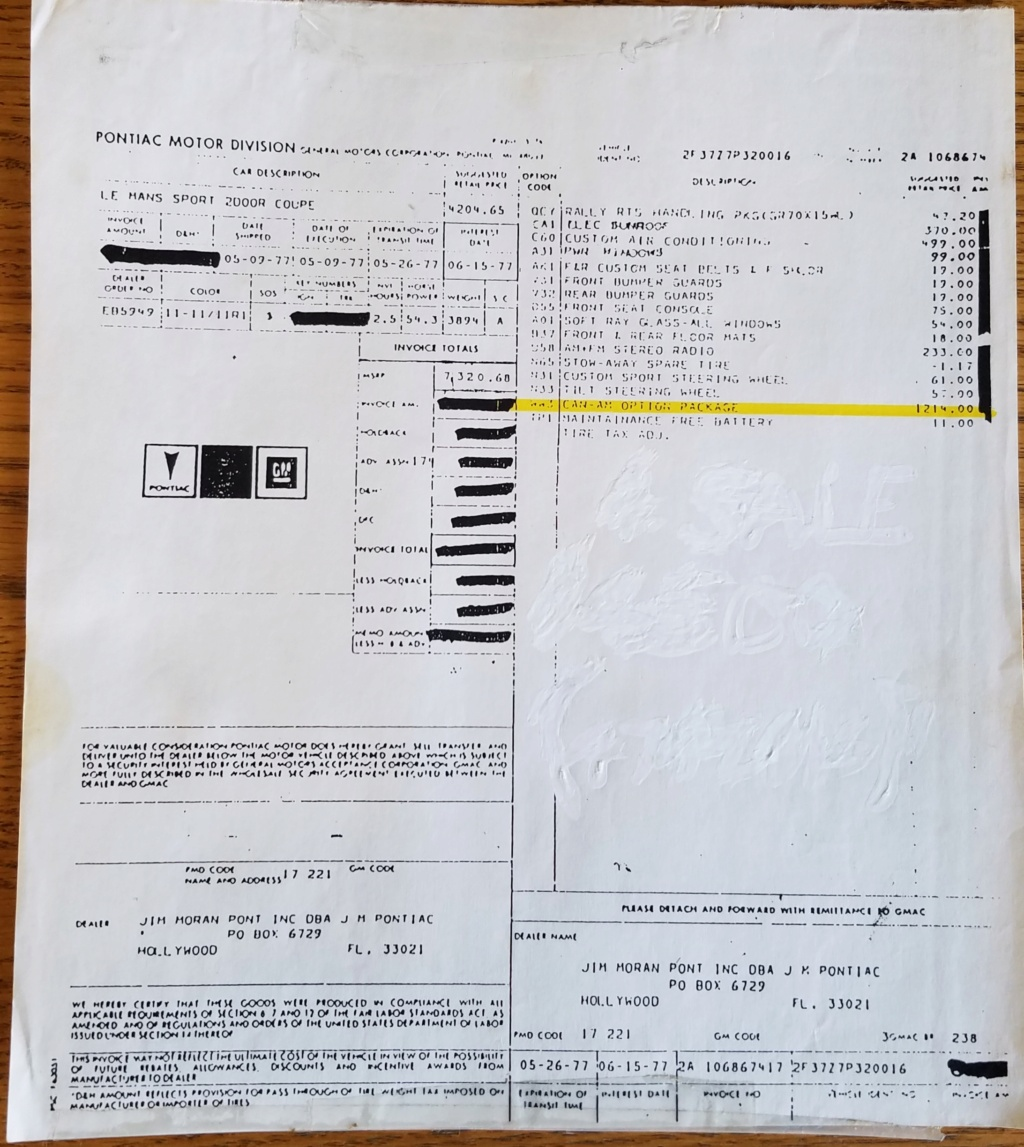 1977 Pontiac Can Am Build - Page 2 20210617