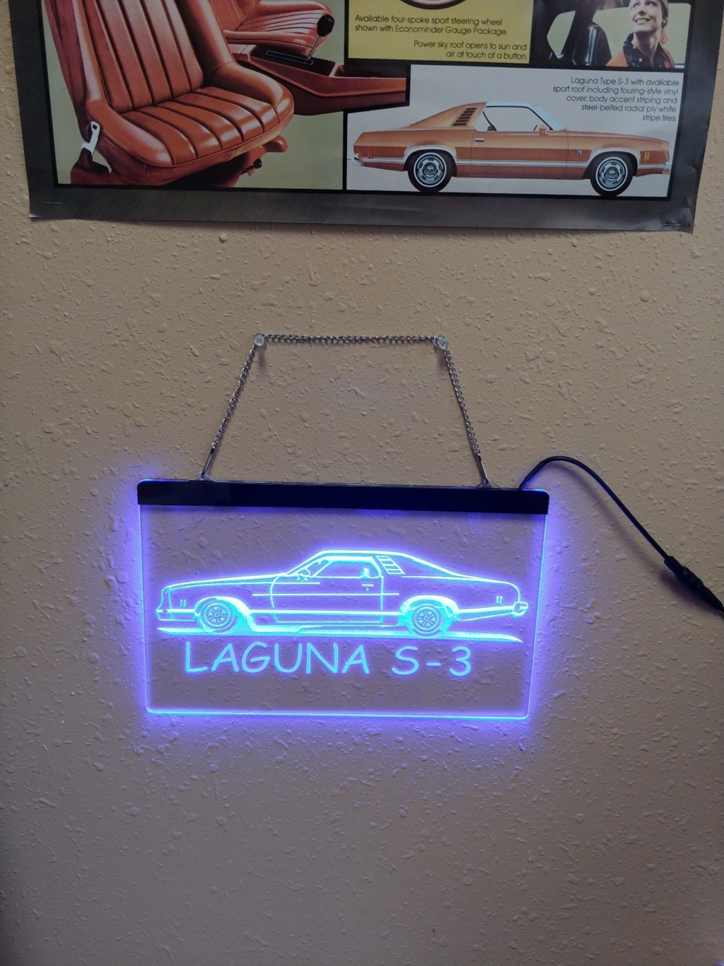 """8"""" x 12"""" Lighted Signs Chevelle, Laguna, Elcamino and NOW MONTE CARLO - Page 2 Ligthe10"""