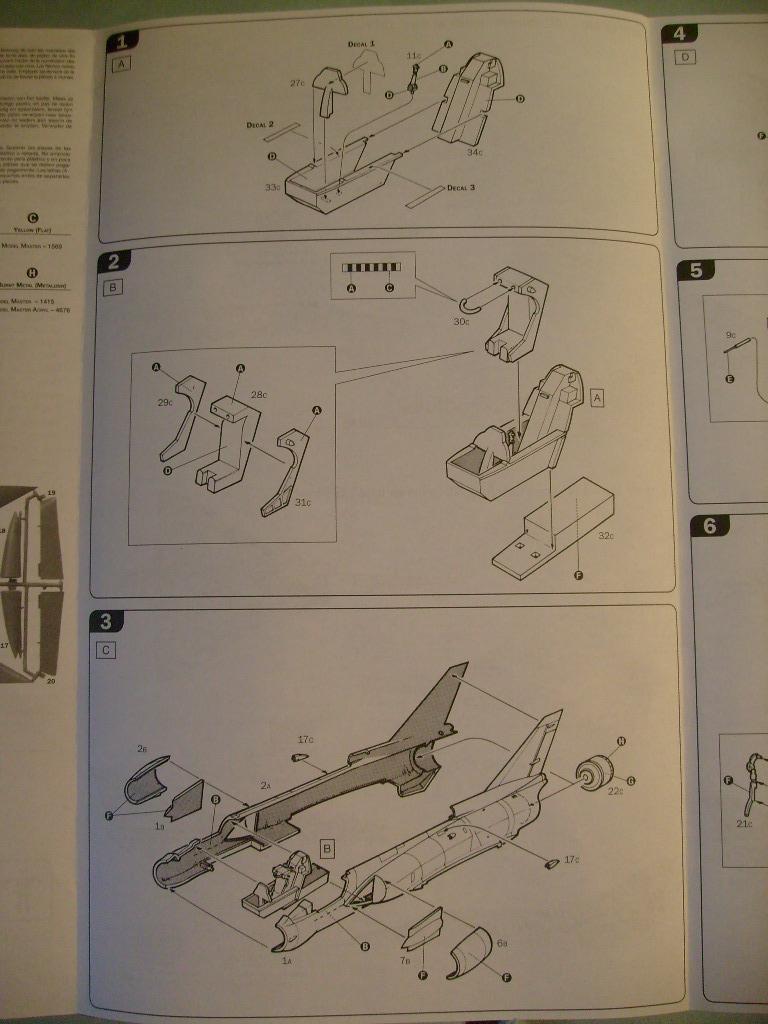 Multi-présentations ESCI/ITALERI quelques  MIRAGE III, F1 et KFIR au 48ème S7301615