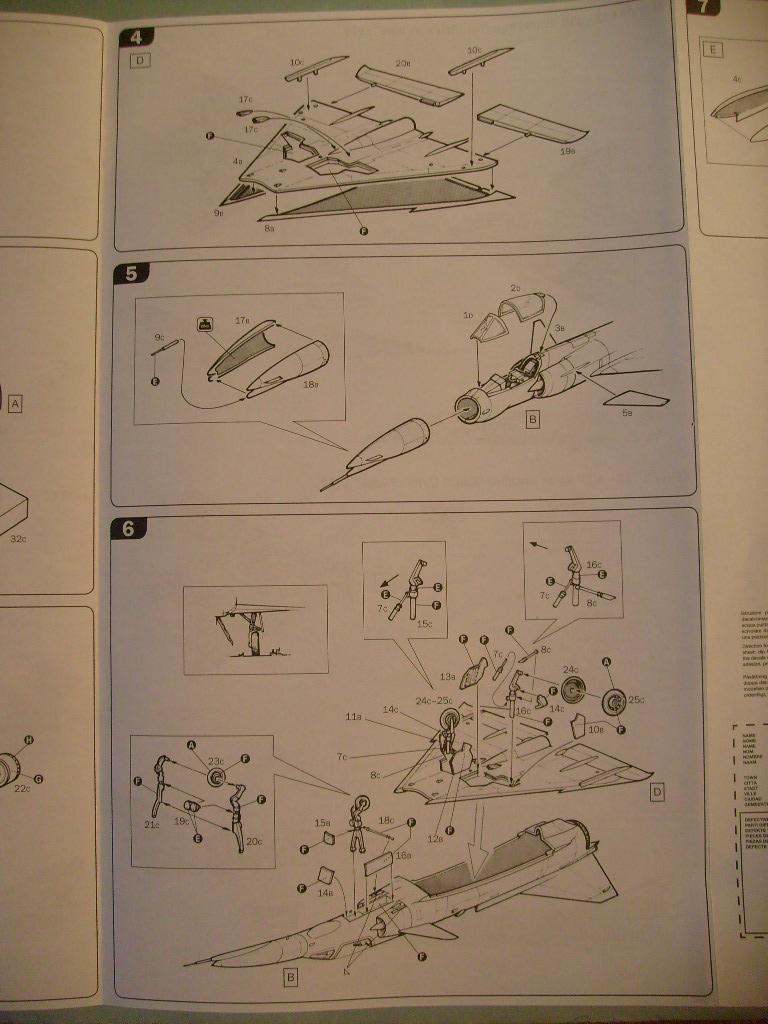 Multi-présentations ESCI/ITALERI quelques  MIRAGE III, F1 et KFIR au 48ème S7301616