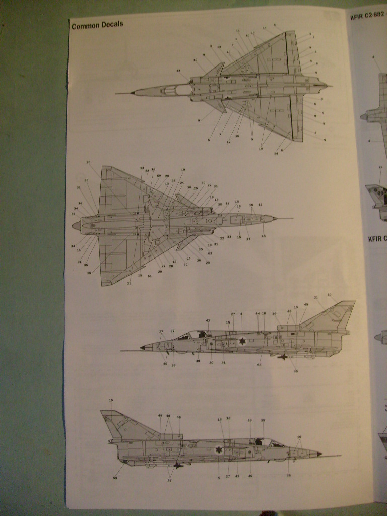 Multi-présentations ESCI/ITALERI quelques  MIRAGE III, F1 et KFIR au 48ème S7301618