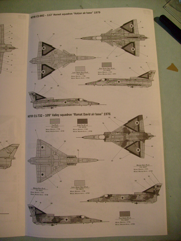 Multi-présentations ESCI/ITALERI quelques  MIRAGE III, F1 et KFIR au 48ème S7301619