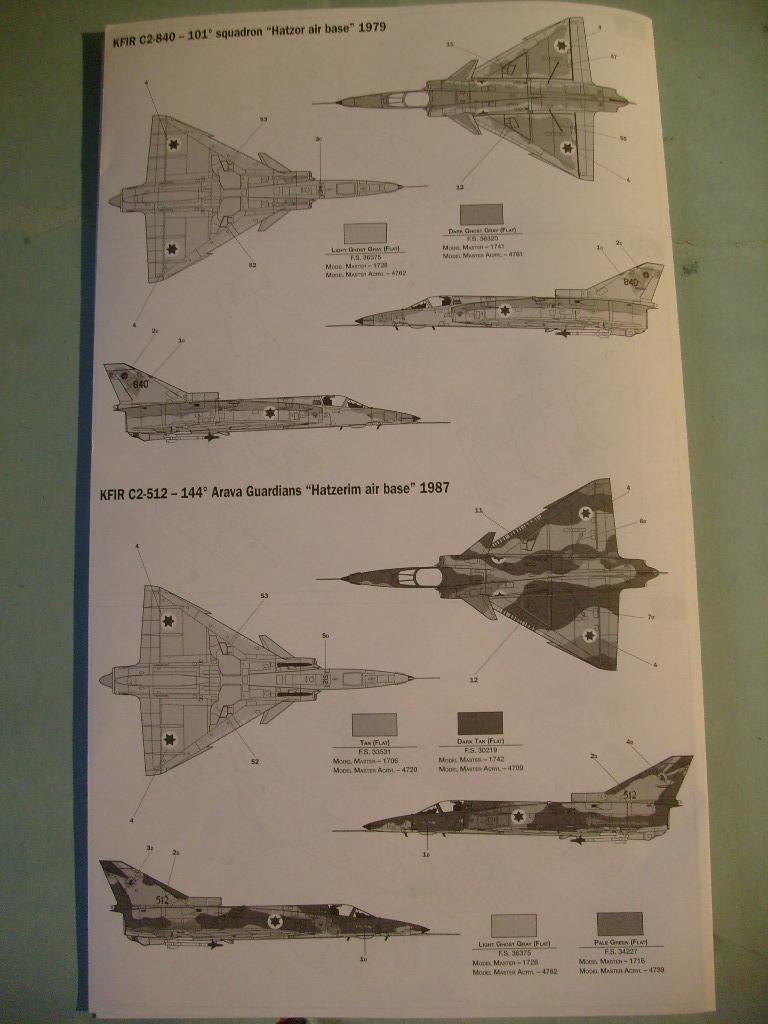 Multi-présentations ESCI/ITALERI quelques  MIRAGE III, F1 et KFIR au 48ème S7301620