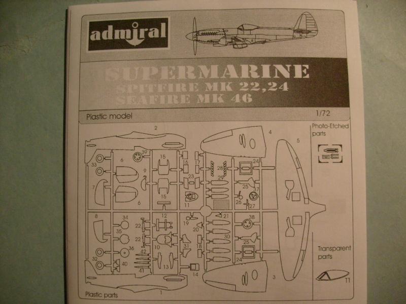 [ADMIRAL] SUPERMARINE SEAFIR Mk 46 1/72ème Réf ADM 7203 S7302090