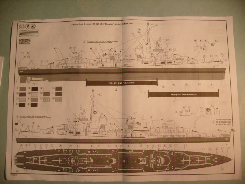 [REVELL] Destroyer DD 445 USS FLETCHER 1/144ème Réf 05091 S7304218