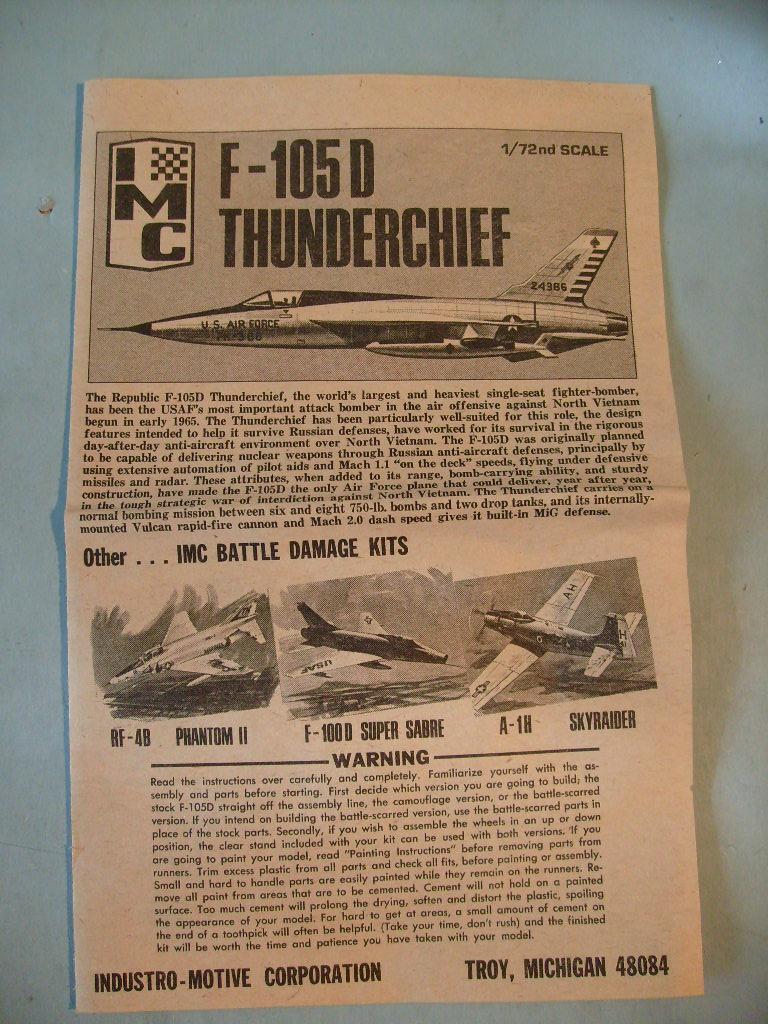 Multi-présentations IMC REPUBLIC F 105 D THUNDERCHIEF et DOUGLAS  A4 E SKYHAWK 1/72ème Réf 483 100 et 485 100 S7308415