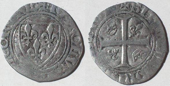 Blanc dit guénar de Charles VI de l´atelier d´Angers (1389-1418) Ch_vi_11