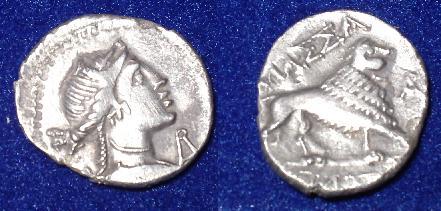 Tètrobole de Marseille ou Drachme du groupe III, série 14. Drachm11